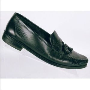 Florsheim Men's Black Leather Dress Loafers 10 D